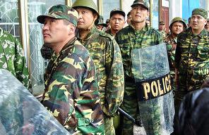 Kyrgyz Police in Talas