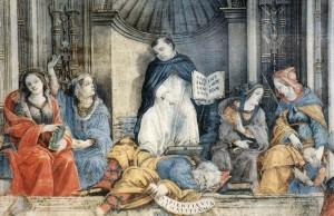 St Thomas Confounds the Heretics - Filippo Lippi