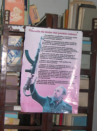 Fidel poster in Baracoa public library  Photo Olga Jazzarelli