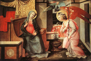 Fra Filippo Lippi Annunciation  Image courtesy Picasaweb