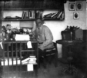 Tolstoy's study at Yasnaya Polyana