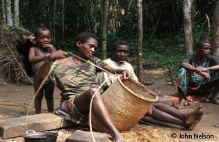 Baka tribespeople in Cameroon © John Nelson