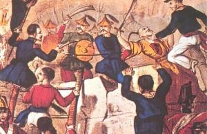 Second Opium War battle at Guangzhou Image courtesy Wikipedia