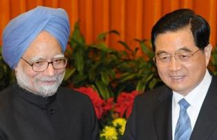 Manmohan Singh and Hu Jintao