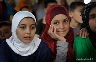 Palestinian children in Lebanon's refugee camps- Image © Sara Minelli