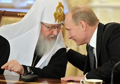 Patriarch Kirill I and President Vladimir Putin