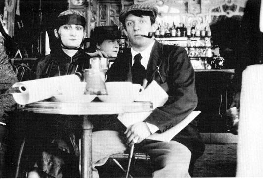 Picasso and his mistress, Paquerette, at the Cafe de la Rotonde