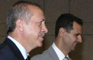 Recep Tayyip Erdoğan and Bashar Hafez al-Assad