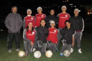 The Hakkari women's team with their coach