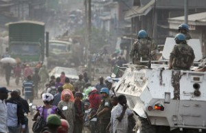 MONUSCO troops in Goma