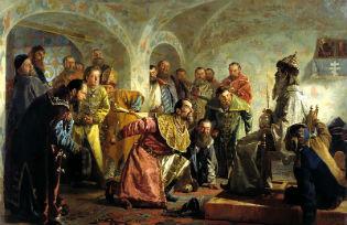 """""""Oprichniki"""" -  painting by Nikolai Nevrev."""
