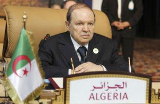 The President of Algeria Abdelaziz Bouteflika