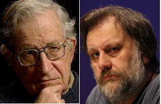 Noam Chomsky and Slavoj Žižek