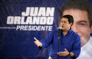 The President of Honduras Juan Orlando Hernández