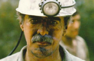 Hakim-Rabet outside the Zirab coal mine in Mazandaran province  northern Iran. Photo courtesy Hakim-Rabet.