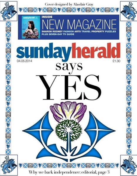 "The Sunday Herald says ""YES"""