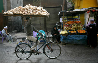 Cairo bread seller