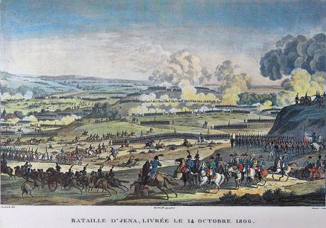 Bataille d'Jena (1806), by Horace Vernet and Jacques François Swebach. Wikimedia/Public domain.