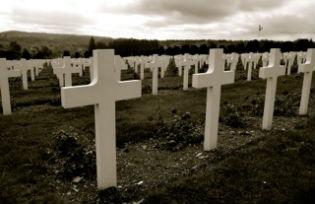 Gravestones at Douaumont Cemetery
