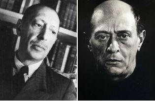 Igor Stravinsky and Arnold Schönberg
