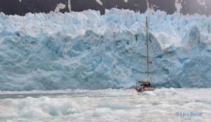 Glacier in the western arm of Seno Pia. Photo © Lara Novak