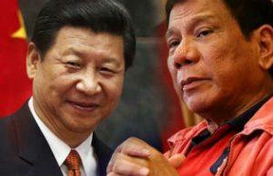 XI Jinping and Rodrigo Duterte