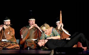La Musica from the prologue (Gemma Bertagnolli) with Orpheus (Prato) accompanied by a gagaku ensemble led by Motonori Miuri