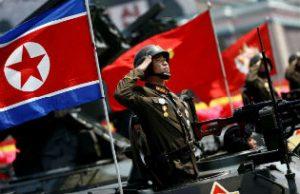 North Korean army on parade