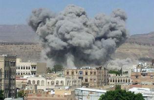 A Saudi raid on Taiz in Yemen